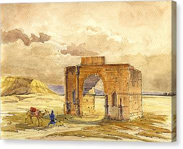 Morocco Canvas Print - Volubilis Mecknes Ruins by Juan  Bosco