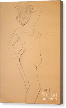 Voluptuous Nude Canvas Print by Gabrielle Schertz