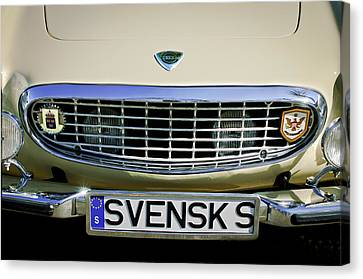 Grill Canvas Print - Volvo Grille Emblem -0198c by Jill Reger