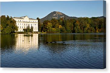 Canvas Print featuring the photograph Von Trapp's Mansion by Silvia Bruno