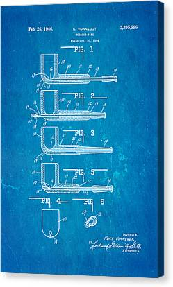 Vonnegut Tobacco Pipe Patent Art 1946 Blueprint Canvas Print by Ian Monk