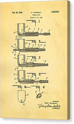 Vonnegut Tobacco Pipe Patent Art 1946 Canvas Print by Ian Monk