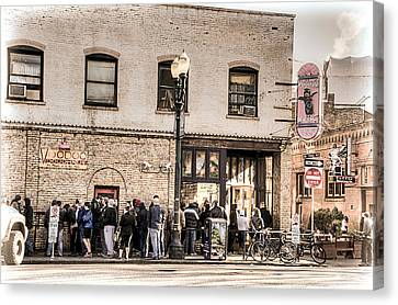 Voodoo Doughnut Line Canvas Print by Spencer McDonald
