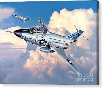 U.s. Air Force Canvas Print - Voodoo In The Clouds - F-101b Voodoo by Stu Shepherd