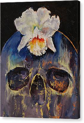 Voodoo Skull Canvas Print by Michael Creese