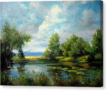Voronezh River Beauty Canvas Print by Mikhail Savchenko