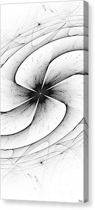 Canvas Print featuring the digital art Vortex by Arlene Sundby