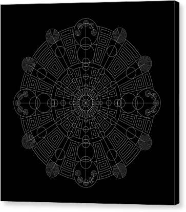 Vortex Inverse Canvas Print by DB Artist