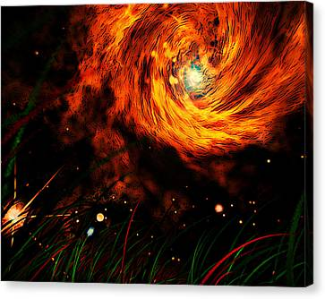 Canvas Print featuring the painting Vortex by Persephone Artworks