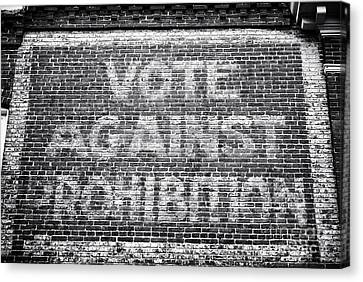 Maryland Canvas Print - Vote Against Prohibition I by John Rizzuto