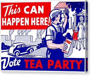 Vote Tea Party Canvas Print by Historic Image