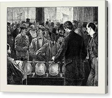 Voting By Ballot In The United States Canvas Print by American School