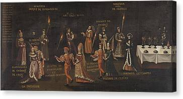 Vow Of The Pheasant, Philip The Good And Isabella Canvas Print by Litz Collection