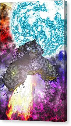 Canvas Print featuring the digital art Voyage by Matt Lindley