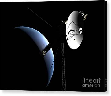 Voyager 1 At Neptune Canvas Print by Rhys Taylor
