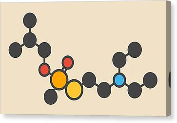 Vr Nerve Agent Molecule Canvas Print by Molekuul
