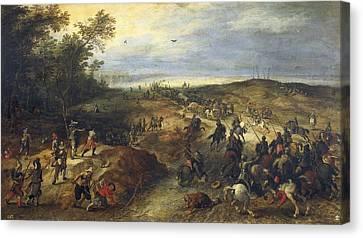 Vrancx, Sebastiaen 1573-1647 Breugel Canvas Print by Everett