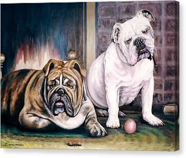 V's Bulldogs Canvas Print by Melodye Whitaker
