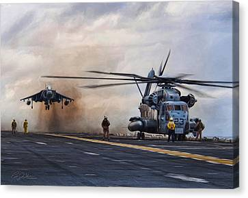 Vtol Parking Only Canvas Print by Peter Chilelli