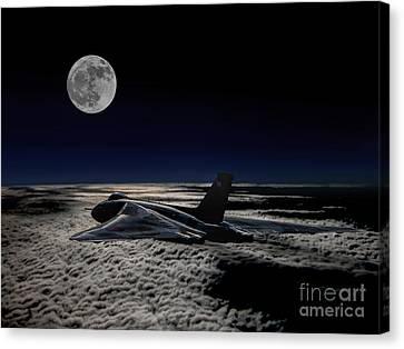 Vulcan At Night Canvas Print by Paul Heasman