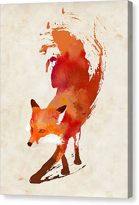 Vulpes Vulpes Canvas Print by Robert Farkas