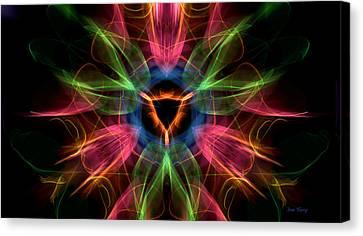 Vulva Galaxy Canvas Print by Dan Terry