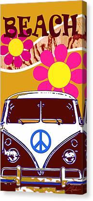 Vw Beach  Tan Canvas Print