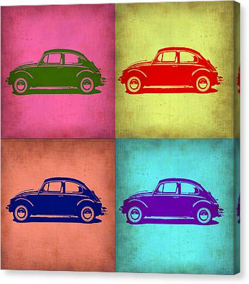 Beetle Canvas Print - Vw Beetle Pop Art 1 by Naxart Studio