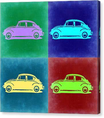 Vw Beetle Pop Art 3 Canvas Print by Naxart Studio