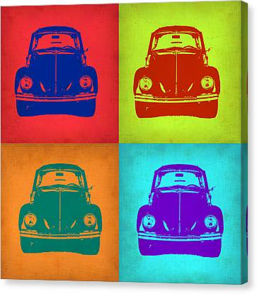 Vw Beetle Pop Art 5 Canvas Print by Naxart Studio