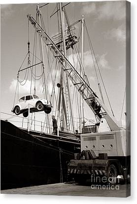 Vw Beetle, Ramsgate - 1960's    Ref-501 Canvas Print