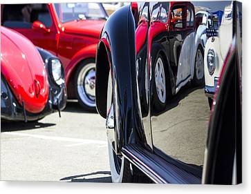 Vw Beetles And Reflections Bugorama 69 Canvas Print by Studio Janney