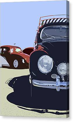 Vw Beetles Front View Canvas Print by Studio Janney