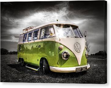 Vw Camper Van Canvas Print by Ian Hufton
