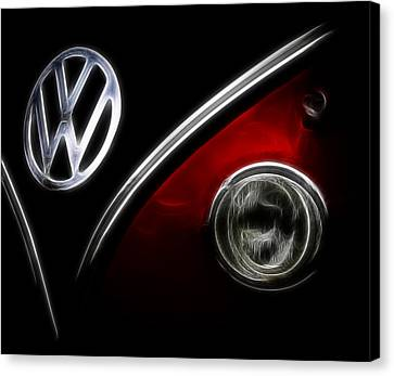 Vw Micro Bus Logo Canvas Print by Steve McKinzie