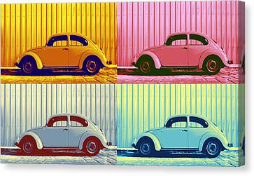 Vw Pop Autumn Canvas Print by Laura Fasulo