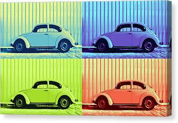 Metallic Sheets Canvas Print - Vw Pop Summer by Laura Fasulo