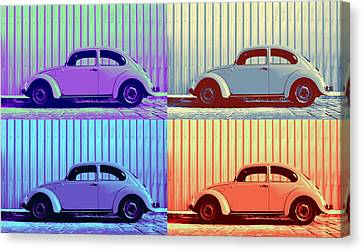 Vw Pop Winter Canvas Print by Laura Fasulo