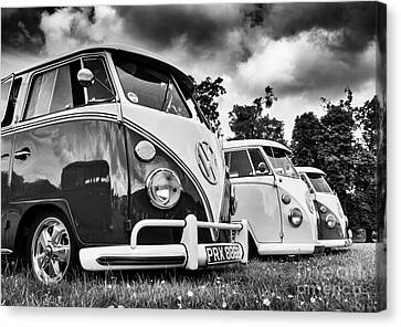 Vw Splitties Monochrome Canvas Print