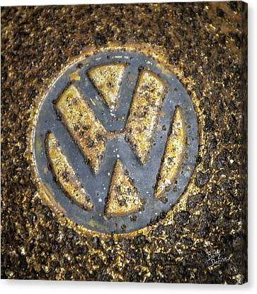 Vw - Volkswagon Hubcap Canvas Print