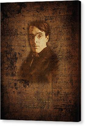 W. B. Yeats Canvas Print by Andrew Fare