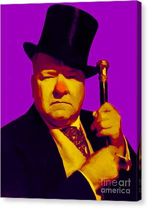 W C Fields 20130217m30 Canvas Print by Wingsdomain Art and Photography