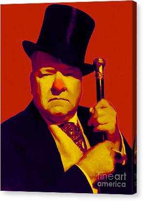 W C Fields 20130217p50 Canvas Print by Wingsdomain Art and Photography