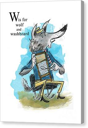 W Is For Wolf Canvas Print