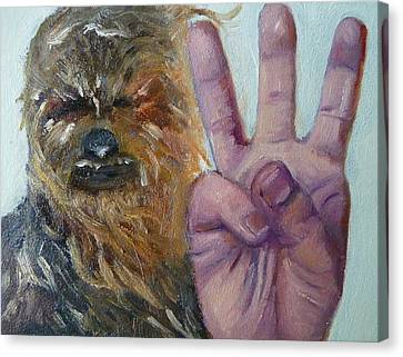W Is For Wookie Canvas Print by Jessmyne Stephenson