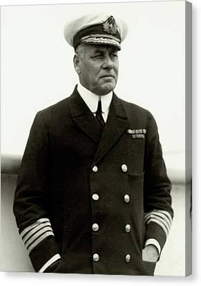 W. R. D. Irvine Wearing A Naval Uniform Canvas Print by Dana B. Merrill