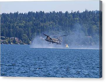 Wa, Seattle, Seafair, Us Army Ch-47 Canvas Print by Jamie and Judy Wild