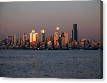 Wa, Seattle, Seattle Skyline Canvas Print by Jamie and Judy Wild