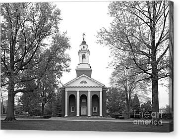 Wabash College Chapel Canvas Print by University Icons