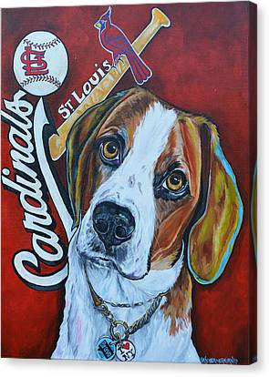 Baseball Canvas Print - Wacha by Patti Schermerhorn